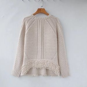 Theory alpaca cashmere beige white sweater s